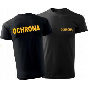 OCHRONA T-Shirt (żółte napisy)
